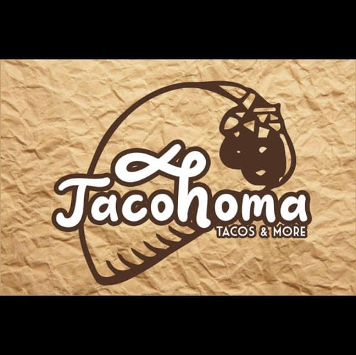 Tacohoma logo. Text: tacos & more